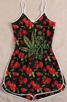 Euramerican Fashion Sling Print Jumpsuit MDO202103
