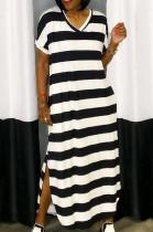 Fashion Casual Stripe Ling Dress WM2328