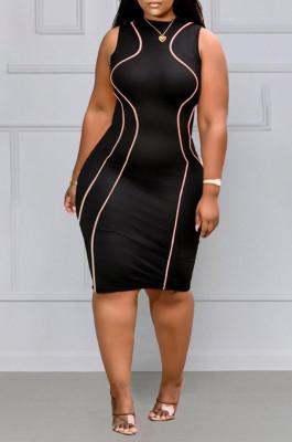 Sexy Package Hip Fashion Round Neck Vest Dress MK034
