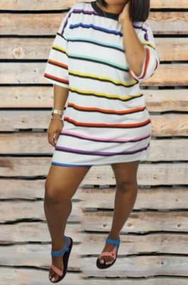 Fashion Women Loess Stripe Dress ORY5095