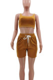 Euramerican Fashion Women Pure Color Casual Two-Piece TK6172