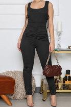 Fashion Tideway Sleeceless Ruffle Sexy Bodycon Jumpsuits WME8888