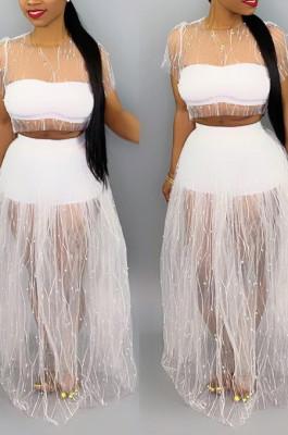 Fashion Women Net Yarn A Bead Sets MD187