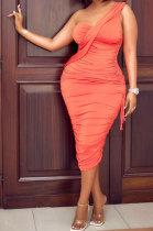 Sexy Temperament Women Condole Belt Drawsting Adjustable Midi Dress AYL2042