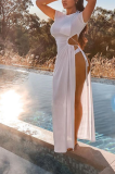 Spring 2021  Euramerican Fashion Sexy Open Fork Long Dress PHH1291