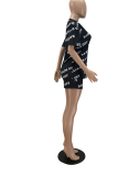 Fashion Letter Print Casual Round Neck Two-Piece Sets PHH1203