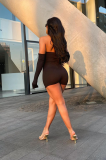 Euramerican Sexy Skinny Off Shoulder Short Sets PHH1202