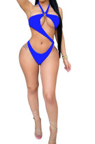 Sexy Swimwear Pure Color Net Yarn Two Pieces Swimsuits DY6987