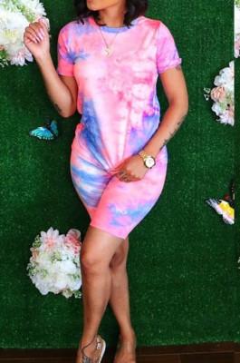 Euramerican Women Fashion Casusl Tie Dye Print Sets TY1803