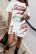 Trendy Printing Casual Shorts Sets GLS7003
