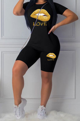 Fashion Sport Short Sleeve Casual Two-Pieces LL6294