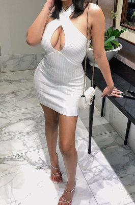 Casual Sexy Pure Color Mini Dress LL6321