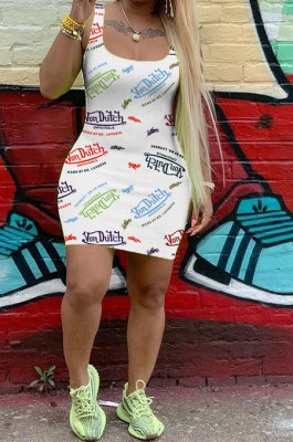 Women Casual Sleeveless Vest Mini Dress FH132