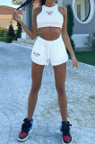 Sexy Women Navel Exposure Sleeveless Vest Trendy Shorts Sets CYC741