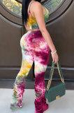 Sexy Printing Ruffle Pants Sets AMW8186