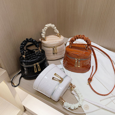 Crocodile Print Mini Bucket Bag