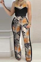 Digital Printing Gallus Sleeveless Trendy Casual Pants Sets SMX2022