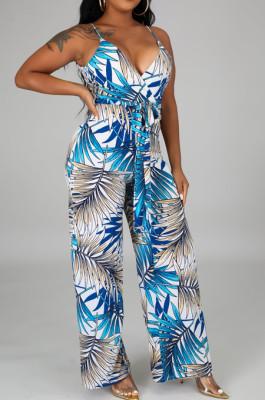 Fashion Sexy V Neck Sling Women Jumpsuit SMR10083