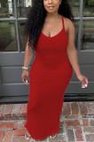 Fashion Cuaual Sling Loose Long Dress CYY003