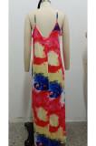 Fashion Summer Casual V Neck Loose Sling Dress SMR10152