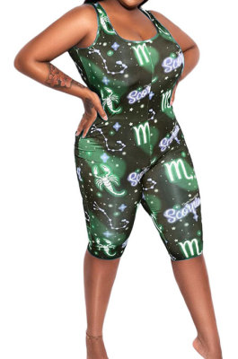Euramerican Women Star Printing Romper Shorts AMN8003