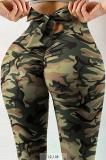 Casual High Waiste Bow Print Yoga Pants ONN013