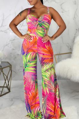 Euramerican Fashion Casual V Neck Sling Jumpsuit SMR10084