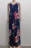 Fashion Summer Casual Loose Sleeveless V Neck Dress SMR10200
