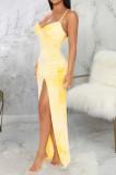 Euramerican Fashion Sexy Sling V Neck Long Dress SMR10074