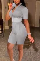 Fashion Sport Short Sleeve Shorts Two-Piece TK6175