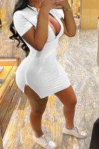 Casual Sexy Zipper Tight Mini Dress MQX2336