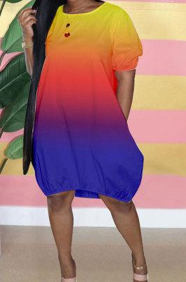 Women Gradual Change Puff Ball Skirt Mini Dress GHH031