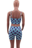 Euramerican Sexy Print Vest Top Beach Shorts Two-Piece HHM6520