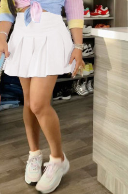 Casual Sexy Pure Color Ruffle Short Skirts SM9177