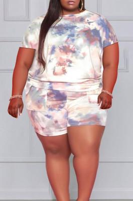 Euramerican Big Yards Casual Short Sleeve Shorts Two-Piece MK038