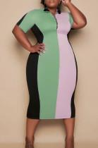 Euramerican Big Yards Fashion Spliced Dress S6287