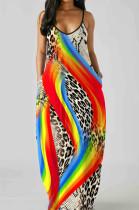 Euramerican Summer Fashion Loose V Neck Sling Dress SMR10201