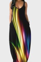 Euramerican Summer Fashion Loose V Neck Sling Dress SMR10158