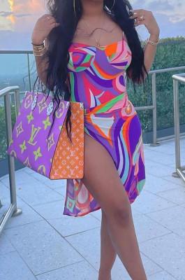 Euramerican Sexy Print Bikini One-Piece +Beach Towels A Variety Of Tees OEP6290