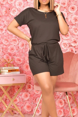 Fashion Casual Short Sleeve Shorts Sport Jumpsuits A8602