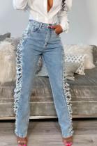 Fashion Shift Hole Culitvate One's Morality Cowboy Pants JLX6890