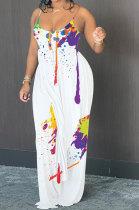 Splash-Ink Condole Belt Backless Pants Sets AYW8001