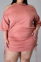 Euramerican Big Yards Off Shoulder Knotted Starp Dress QZ5286