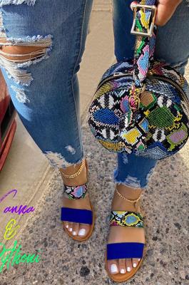 Summer Casual Blue Pink Beach Shoes XK8035