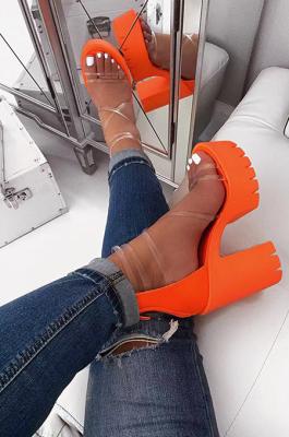 Fashion Sexy Bandge High-Heeled Platform Sandals XK9084
