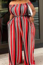 Euramrican Big Yards Stripe Print Sexy Jumpsuits QSS5100