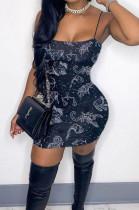 Fashion The Zodiac Print Sling Mini Dress JG011