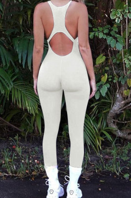 Women Yoga Cultivate One's Morality Backless Carry Buttock Sport Jumpsuit Q871