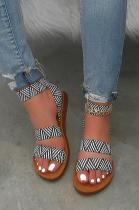Summer New Style Casual Ptint Flat Sandal XK8007