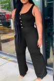 Fashion Spliced Casual Vest Wide Leg Jumpsuits HHM6330